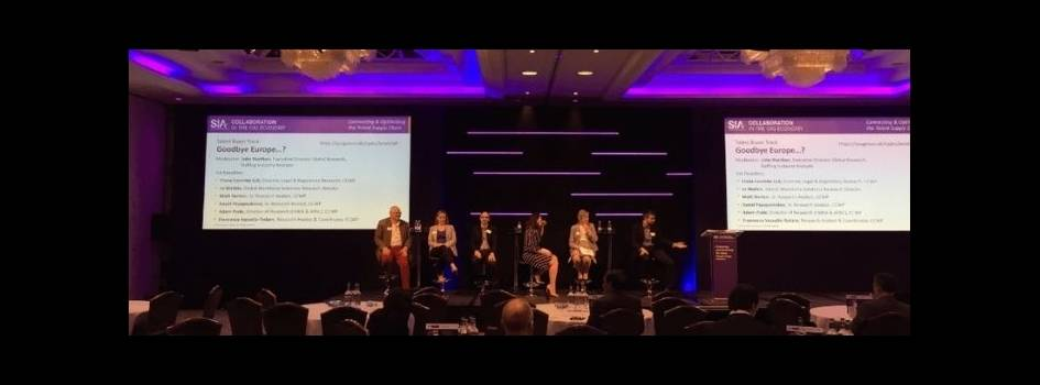 Gig economy conference - discussion on stage