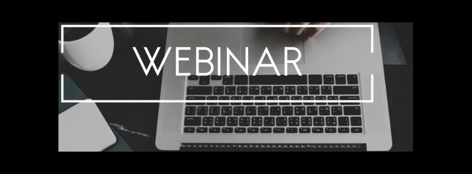 laptop with webinar text