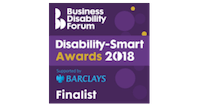 Business Disability Forum Disability Smart Awards Finalist 2018 logo