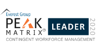 Everest Group Contingent Workforce Management PEAK Matrix Leader 2020