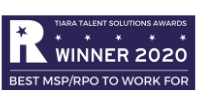 TIARA Awards 2020 winner logo Best MSP RPO to to work for