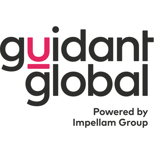 "Guidant Global logo with tag line ""Powered by Impellam Group"""